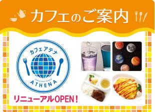 バンドー神戸青少年科学館1階・入口横にあるカフェ「ATHENA(アテナ)」